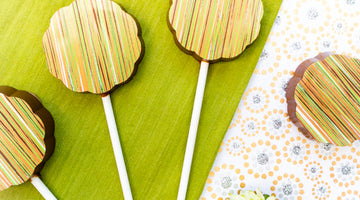 Gin and Prosecco Chocolate Lollipops