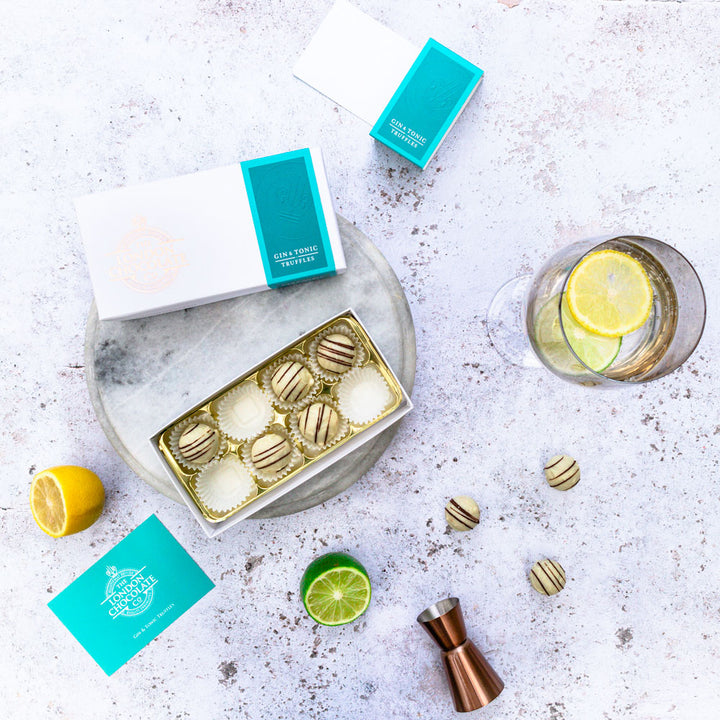 gin and tonic chocolate truffles gift box