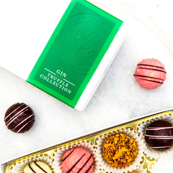 gin chocolate truffles gift box