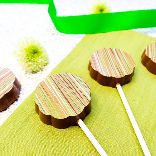 milk chocolate gin lollies
