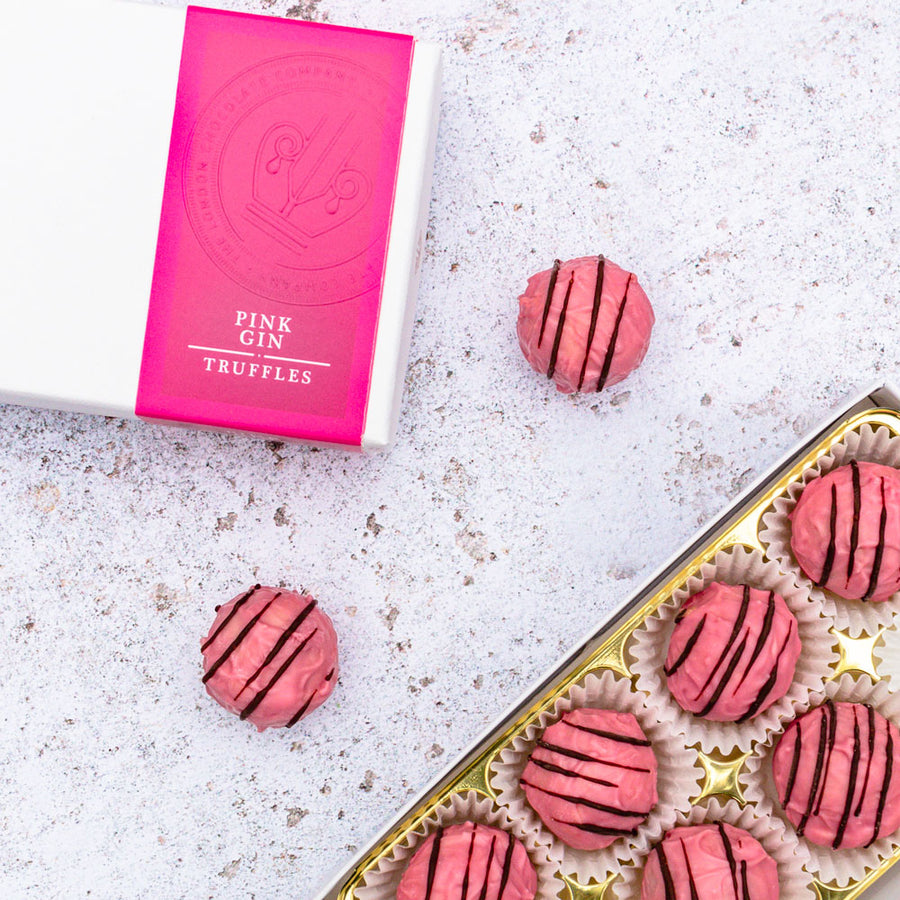 Pink Gin Chocolate Truffles Gift Box