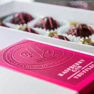 Raspberry Gin Chocolate Truffles Gift Box