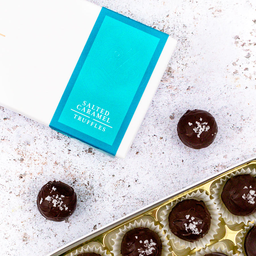 salted caramel chocolate truffles gift box