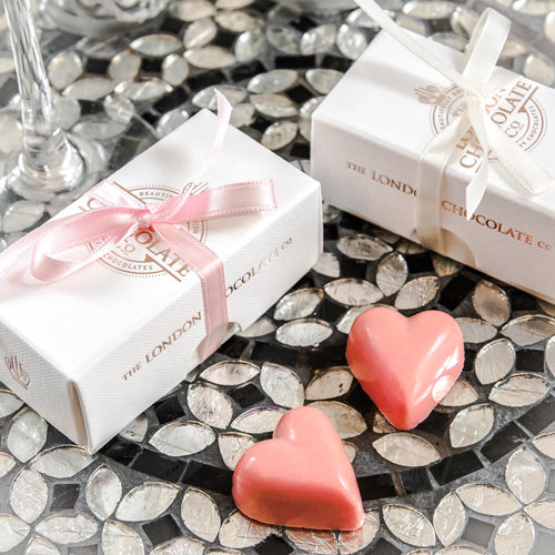 luxury chocolate wedding favours