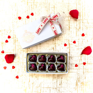 Valentine's Vegan Chocolate Hearts Gift Box