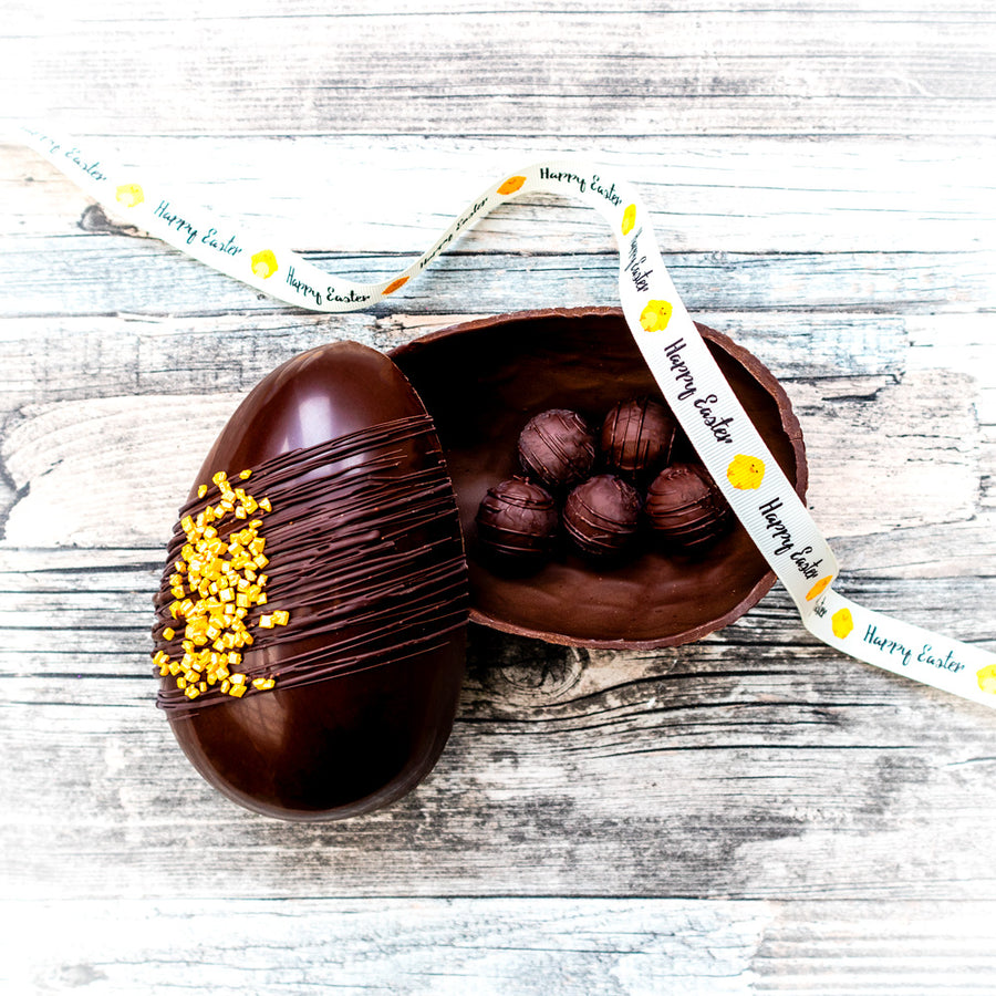 Vegan Salted Caramel Easter Egg
