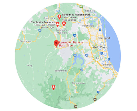 Noelle Woodland Traveller's Guide - Tamborine, Gold Coast Hinterland Township Map