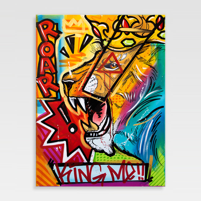 Urban Art Company - King Redd - King Me - Canvas