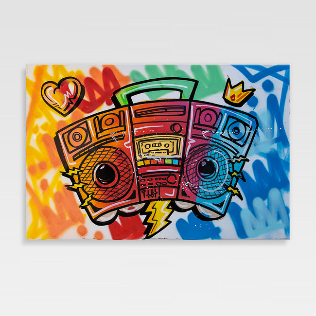 Urban Art Company - King Redd - Boom Box - Canvas