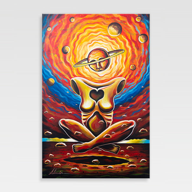 Urban Art Company - Alvin Surreal - Cosmic Meditation  - Canvas