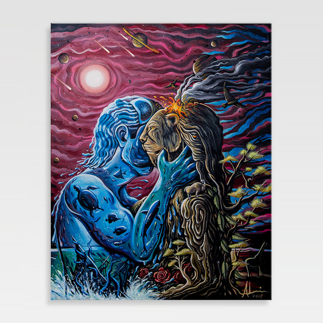 Urban Art Company - Alvin Surreal - Nature Born Lovers - Canvas