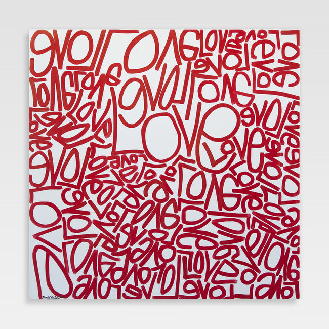 Urban Art Company - Renda Writer - Love #1 - Canvas