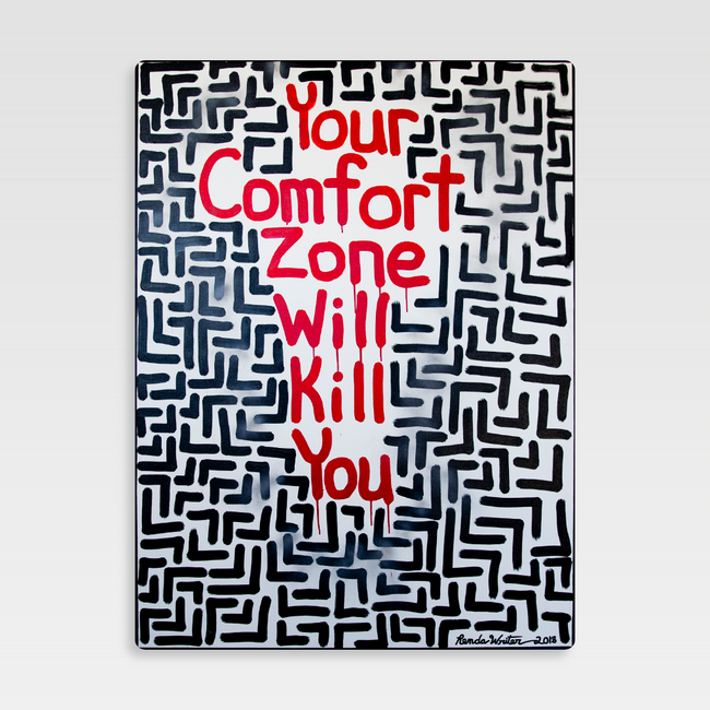 Urban Art Company - Renda Writer - Your Comfort Zone Will Kill You #1 - Metal