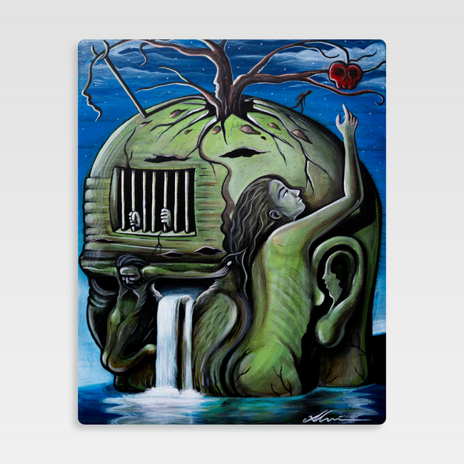 Urban Art Company - Alvin Surreal - The Fruit of Our Labor  - Metal