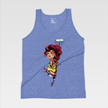 Urban Art Company - Didi Contreras - Buff Princess - T-Shirt - Athletic Blue