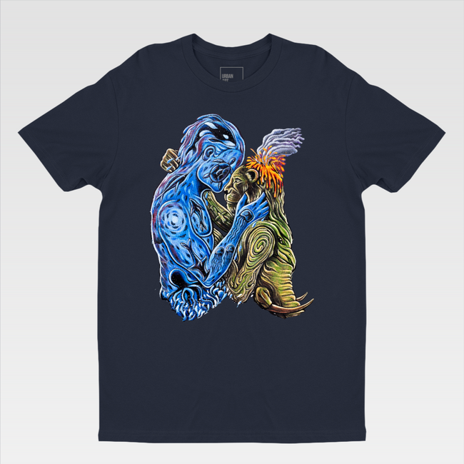 Urban Art Company - Alvin Surreal - The Forces of Nature - T-Shirt - Midnight Navy