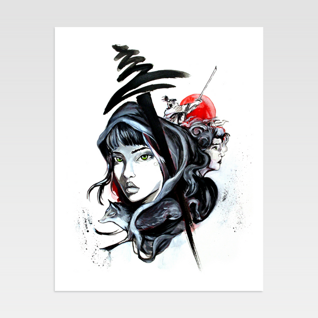 Urban Art Company - Didi Contreras - Asian Beauty - Limited Print