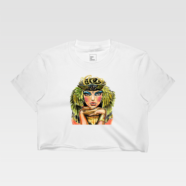 Urban Art Company - Didi Contreras - Cleo - Crop Top - White
