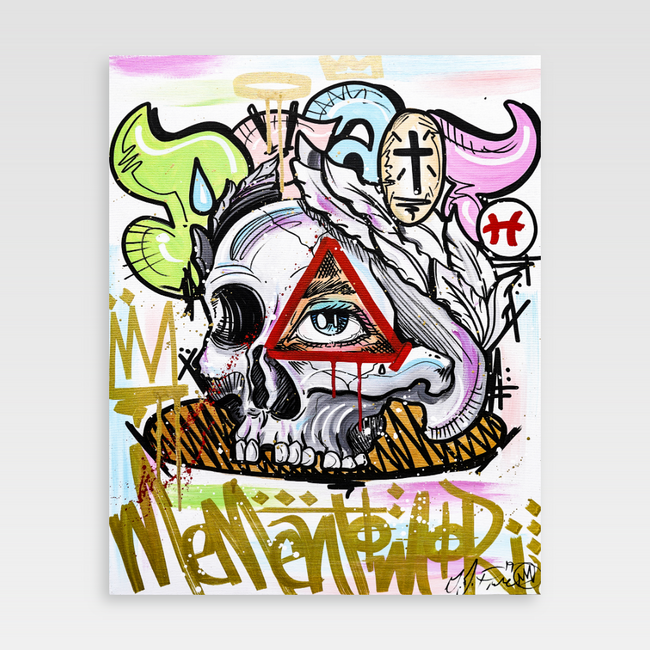 Urban Art Company - King Redd - Momento Mori - Canvas