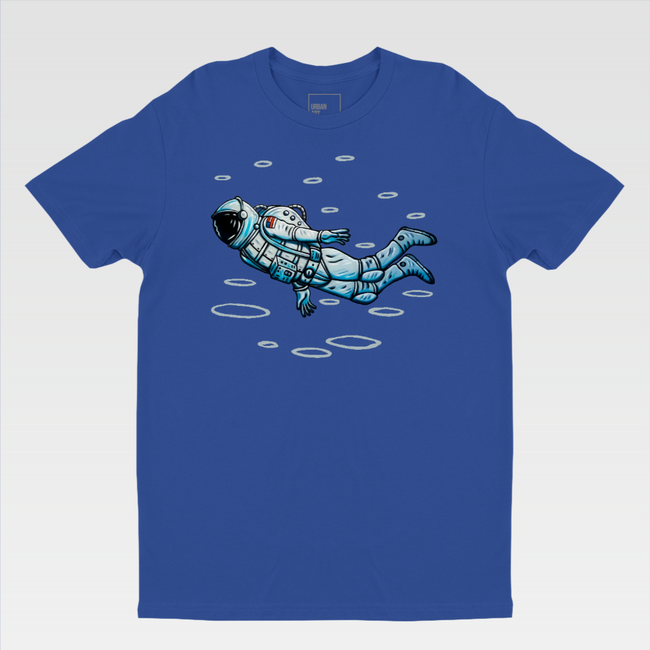 Urban Art Company - Alvin Surreal - Astro Man  - T-Shirt - Royal Blue