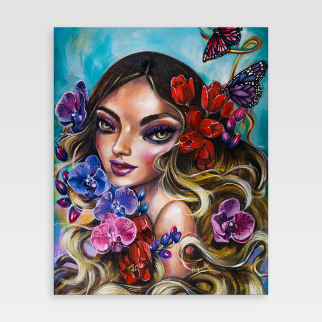 Urban Art Company - Didi Contreras - Nature's Goddess - Canvas