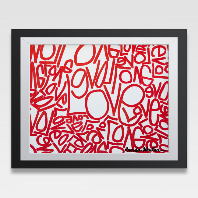 Urban Art Company - Renda Writer - Love #1 - Signature Print