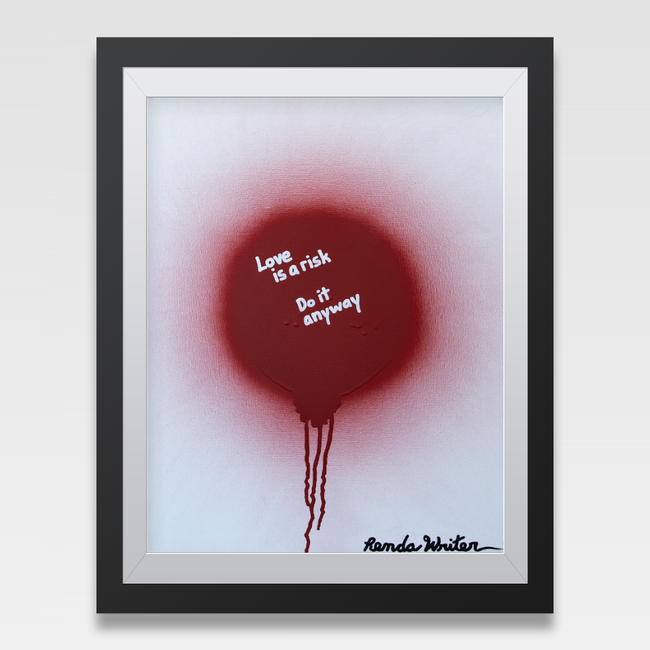 Urban Art Company - Renda Writer - Worth the Risk - Signature Print