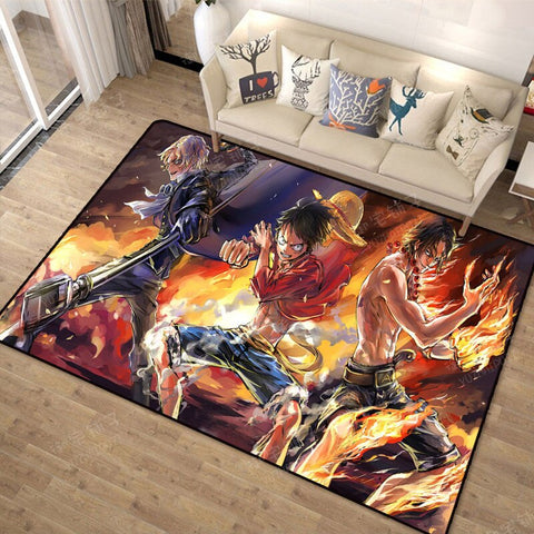 Tapis One Piece Ace Luffy & Sabo