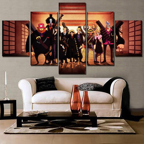 Prints Pictures Home Wall Art Modular 5 Panel Poster Animation One Piece Modern Painting On Canvas Living Room Decor Framework