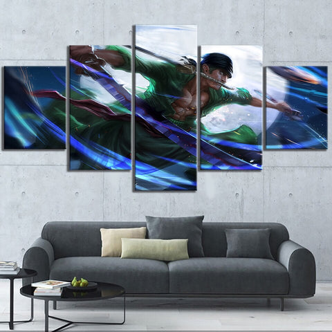 Canvas One Piece 5 Tableaux