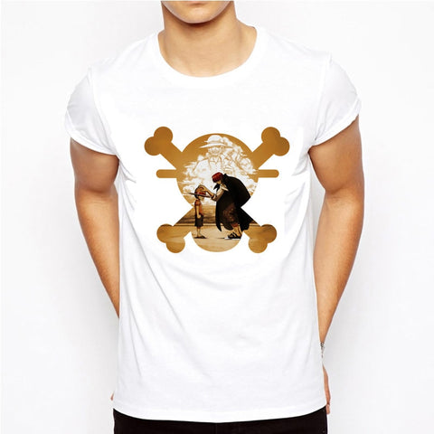 T-Shirt One Piece Luffy et Shanks - Luffy-Shops