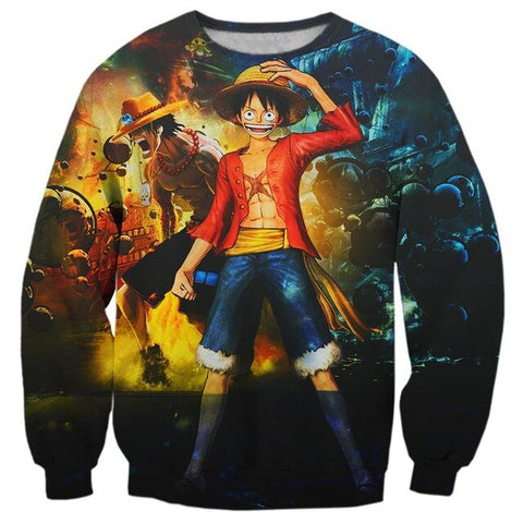 Pull One Piece Ace Luffy - Luffy-Shops