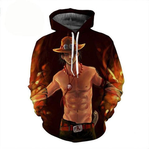 Sweat One Piece Ace Fire - Luffy-Shops