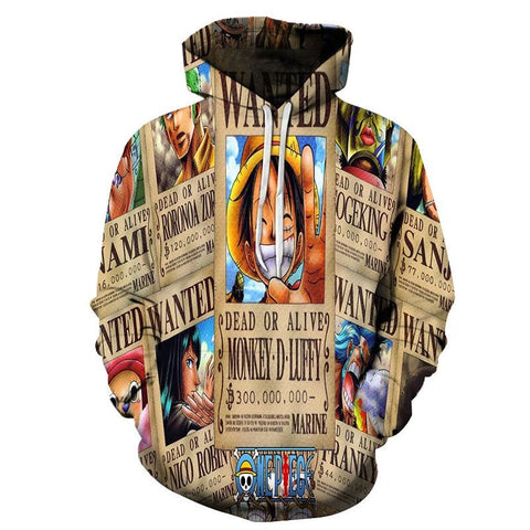 Sweat One Piece Mugiwara Prime - Luffy-Shops