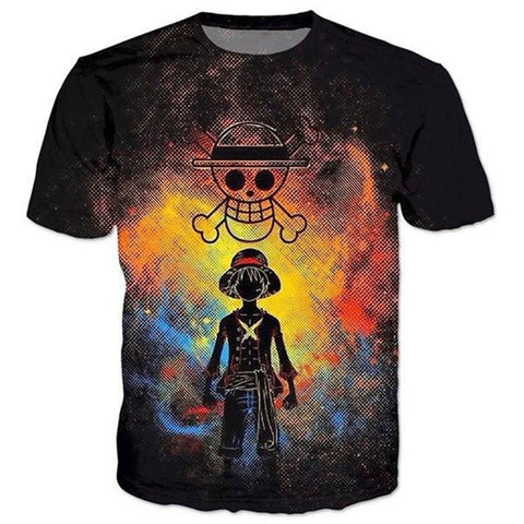T-Shirt One Piece Mugiwara Emblème - Luffy-Shops