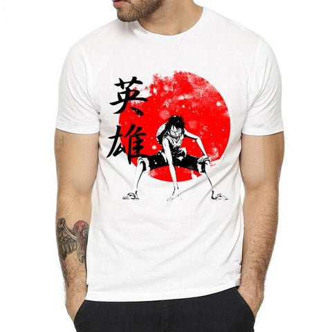 T-Shirt One Piece Luffy Japon - Luffy-Shops