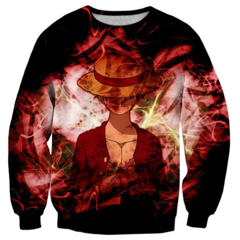 Pull One Piece Luffy Haki Des Rois - Luffy-Shops