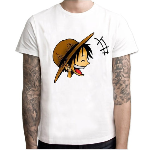T-Shirt One Piece Luffy Tête - Luffy-Shops