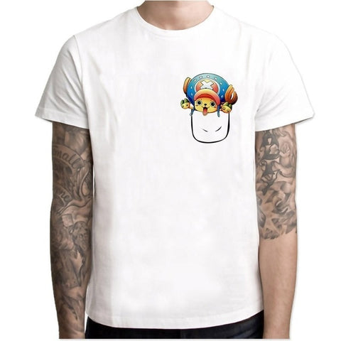 T-Shirt One Piece Chopper Poche - Luffy-Shops