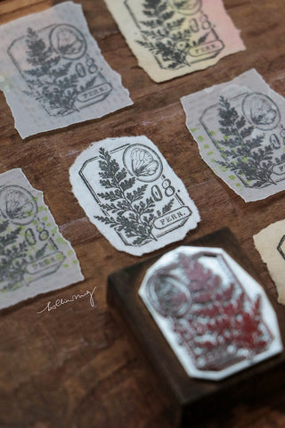 LCN Fern Specimen metal stamps - No 8. / No 9.