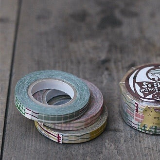 Textile Washi Tape 8mm (3 Colors)