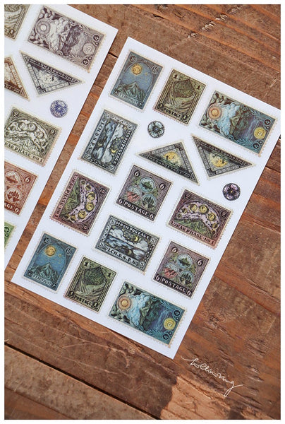 LCN Postage Stamp Print On Stickers