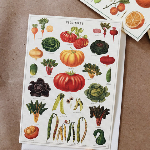 Cavallini Pocket Card - Vegetables
