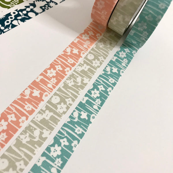Small Flowers Masking Tape - 3 colors