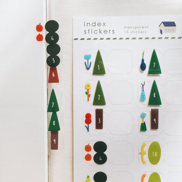 Trees Index Stickers