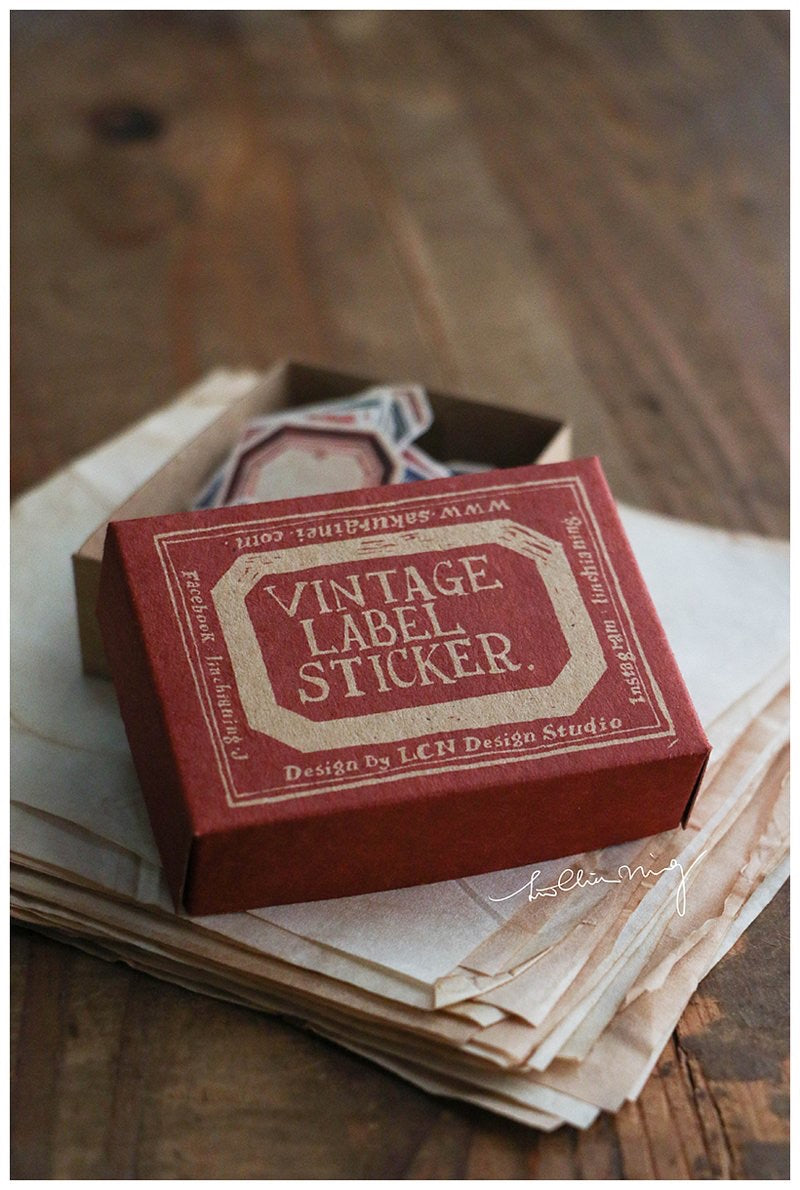 LCN Red & Blue Label Stickers Box (RED BOX)