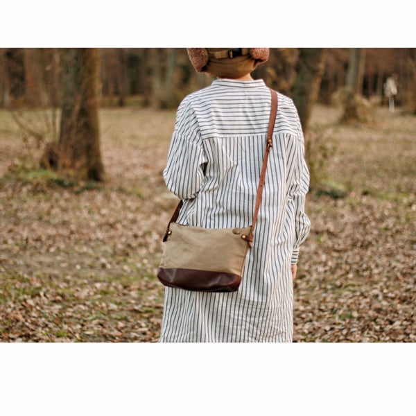TSL Leather Bottom Shoulder Bag S (Brown)