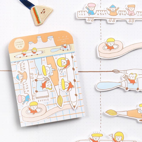 Yohand Stationery Transport Waterproof Stickers 3-05