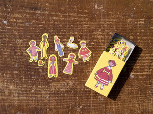 夜長堂 Match Box Stickers - Girl