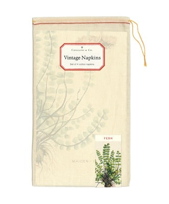 Cavallini 4in1 Vintage Napkins - Ferns